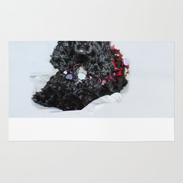 Valentine Puppy Photography Print Rug