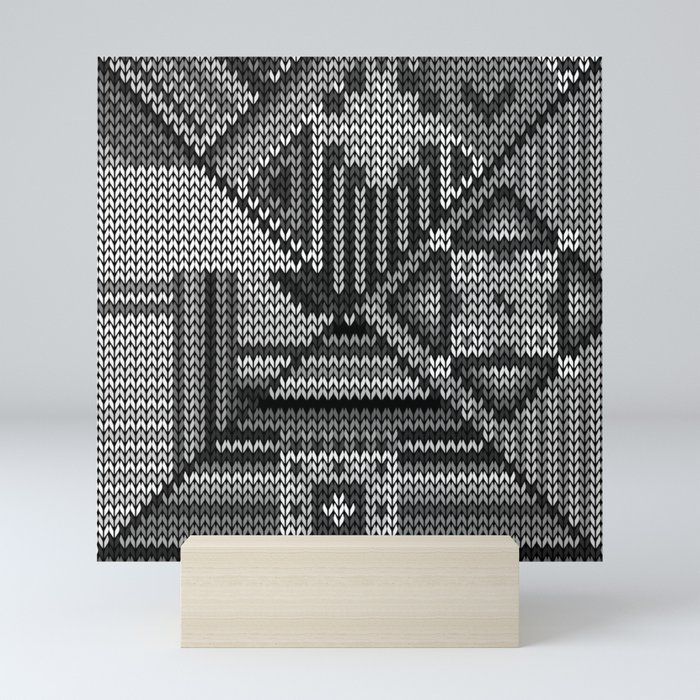 grey knit Mini Art Print
