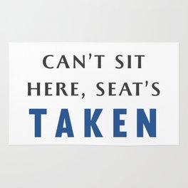 Seat's Taken Rug