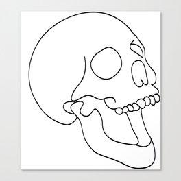 Schedel Black Canvas Print