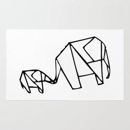 Origami Elephants (mom and baby) Rug