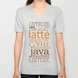 Coffee Words Unisex V-Neck