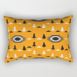 Pine trees- ethnic pattern Rectangular Pillow