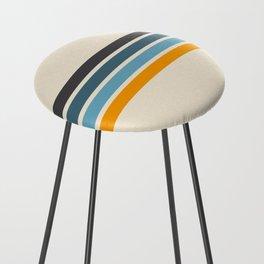 Vintage Retro Stripes Counter Stool
