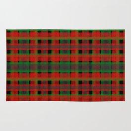 Red, green tartan plaid. Rug