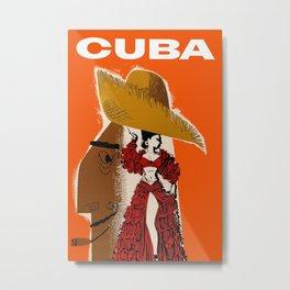 Vintage Travel Ad Cuba Metal Print