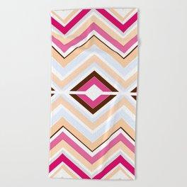 Mod stripes in raspberry Beach Towel