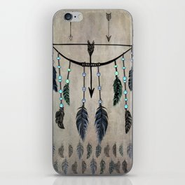 Bow, Arrow, and Feathers iPhone Skin