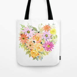 Floral Heart 1 Tote Bag