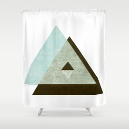 Rice Paper Pyramids Green Shower Curtain