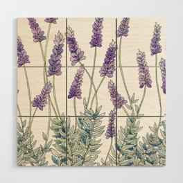 Lavender, Illustration Wood Wall Art