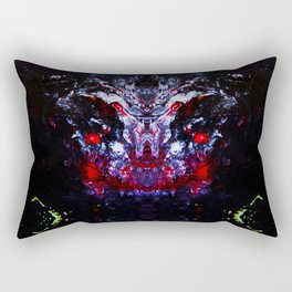 Psycho - Satanic Nightmares with Lightening Bugs Leading the way in Darkness by annmariescreations Rectangular Pillow
