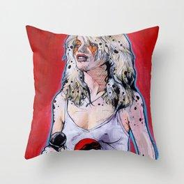Debbie Harry Cheetara - Rip Her to Shreds Throw Pillow