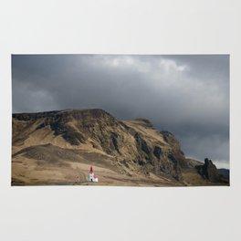 Church in Vik Iceland Rug