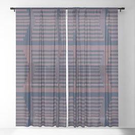 Bicolor Geometric I Sheer Curtain