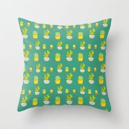 Greeny Cactus Throw Pillow
