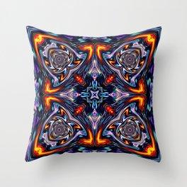 Fire Grid Throw Pillow