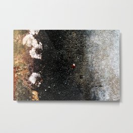 Abstract wall grey painting Metal Print