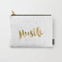 Hustle Gold Motivational Inspirational Quote, Faux Gold Foil Carry-All Pouch