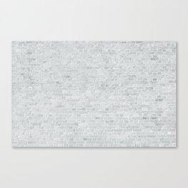 White Washed Brick Wall Stone Cladding Canvas Print