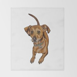 Maxwell the dog Throw Blanket