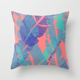 Carved Fluo Jungle #society6 #decor #buyart Throw Pillow