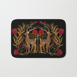 Two Stags Protecting The Dark Forest Gate Bath Mat