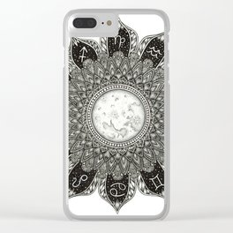 Astrology Signs Mandala Clear iPhone Case