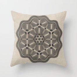 Bank Note Design Throw Pillow