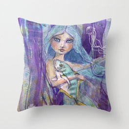 Plenty more Fish in the Sea by Jane Davenport Throw Pillow