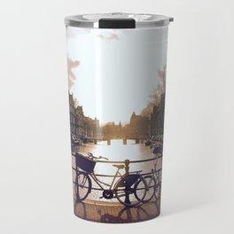 Bicycle Through Amsterdam Travel Mug