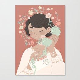 sweet nothings Canvas Print