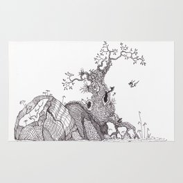 Tiny dragons tree nest Rug