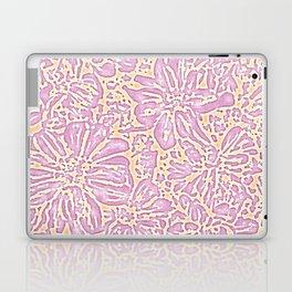 Marigold Lino Cut, Batik Pastel Pink And Orange Laptop & iPad Skin