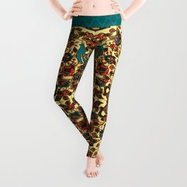 peacock in persian tile paradise Leggings