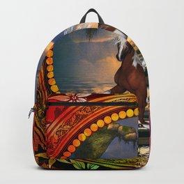 Wonderful horse on the beach Backpack