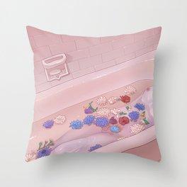Flower Bath 9 Throw Pillow