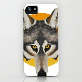Staring Wolf iPhone Case