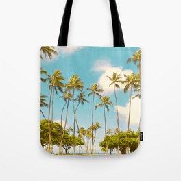 Tall Palms Hawaii Photography Tote Bag