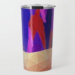 Abstract Colorful Pastel look Design Travel Mug