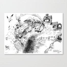 Au-Delà du Terminus / Beyond the End Station Canvas Print