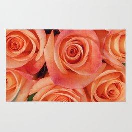 luscious red roses Rug