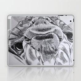 black and white giraffe Laptop & iPad Skin