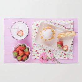 Strawberry ice cream Rug