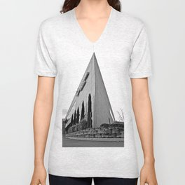 Temple of credit Unisex V-Neck