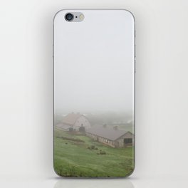 Foggy Oregon Barn iPhone Skin