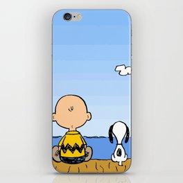Charlie Brown Snoopy On Dock iPhone Skin