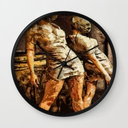 Deadly Duo Silent Hill Nurses Wall Clock