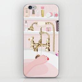 The Pink Bath iPhone Skin