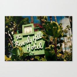 Classy Beverly Hills Hotel Mid Century Modern Neon Sign Canvas Print